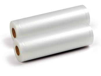 2er Rollen Einschweißfolie für Vakuumiergeräte Folienschweißgeräte, 20cm x 6m