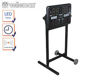 Anzeigetafel mit Stativ für Hallensport, Countup / Countdown / Spielstand