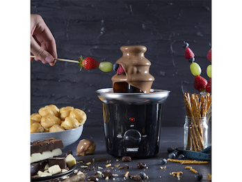 Schokoladenfontaine Schokobrunnen 32W, für Schokoladenfondue und Schokofrüchte