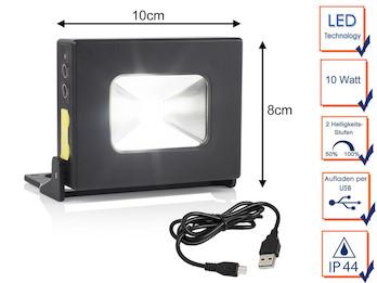 10W LED Multifunktionsleuchte & Powerbank mit Akku, Magnet, SOS Funktion & USB