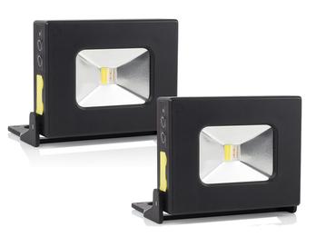 2er Set LED Multifunktionsleuchten & Powerbank mit Akku, Magnet, SOS Funktion