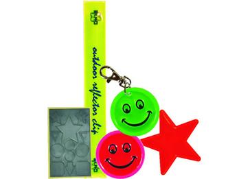 Kids Care Reflektorstreifen-Set, reflektierende Streifen und Figuren