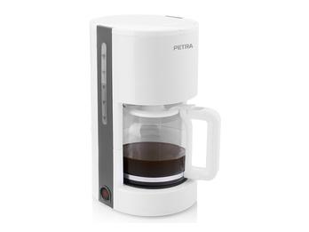 """Moderne 1,2 Liter Kaffeemaschine """"Arktisch Weiß"""" von PETRA 10-12 Tassen"""
