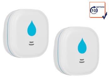2x Wassermelder 10-Jahres-Batterie Wasseralarm Wasserwächter 85dB