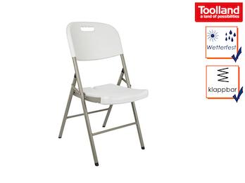 Stabiler Klappstuhl weiß, Campingstühle Balkonstühle klappbar, Garten