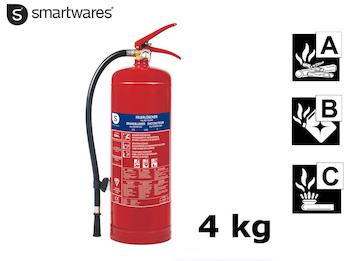 Handlicher Feuerlöscher / Pulverlöscher 4kg, Brandklasse A, B, C
