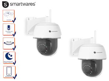 IP Outdoor Kamera Set Domekameras, Nachtsicht und Bewegungssensor, App Steuerung