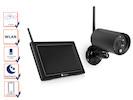Wlan Überwachungskamera mit Monitor, Bewegungsmelder & Nachtsicht, Appsteuerung