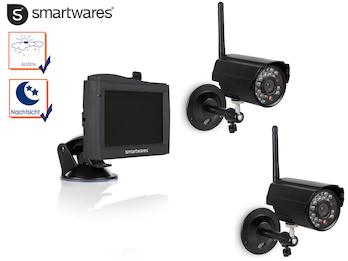 Kabelloses 2-Kanal Überwachungskamera Set Nachtsicht, 4,3