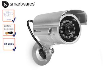 Kamera Attrappe / Dummy Kamera mit Nachtsicht Infrarot LEDs, Batteriebetrieb