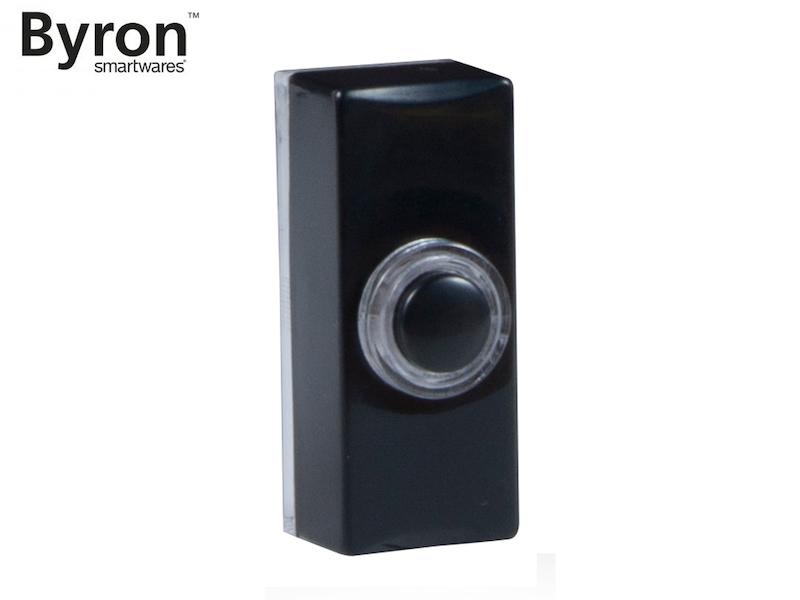 Universal Klingeltaster schwarz für Einfamilienhaus, Klingelknopf beleuchtet