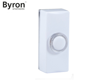 Universal Klingeltaster weiß für Einfamilienhaus, Klingelknopf beleuchtet