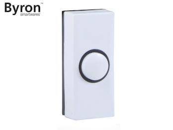 Universal Klingeltaster / Klingelknopf weiß - schwarz Einfamilienhaus