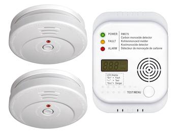 Brandschutz-Set6 (2x Rauchmelder, Kohlenmonoxid-Melder) Sicherheits-Set