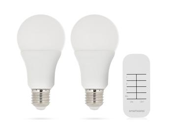 Smarthome LED Leuchtmittel Set E27 mit Fernbedienung - Leuchten An/Aus Schalten