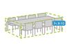 Wetterfeste Schutzhülle Abdeckung rechteckig für Garten Lounge Set, 310x180x95cm