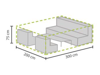 Wetterfeste Schutzhülle Abdeckung L für Garten Lounge Set, 300x200x75cm