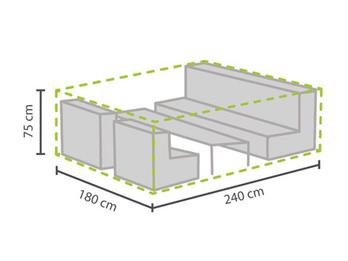 Schutzhülle Abdeckung M für Garten Lounge Set, 240x180cm, witterungsbeständig
