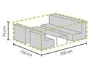 Wetterfeste Schutzhülle Abdeckung S für Garten Lounge Set, 200x150x75cm