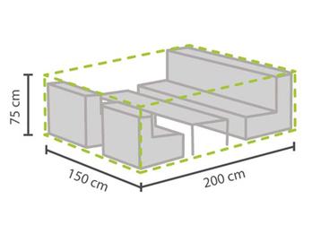 Schutzhülle Abdeckung S für Garten Lounge Set, 200x150cm, witterungsbeständig