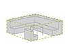 Wetterfeste Schutzhülle Abdeckung XL für Garten Lounge Set, 280x230x80cm