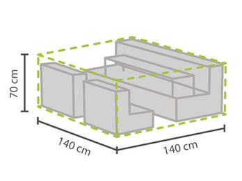 Wetterfeste Schutzhülle Abdeckung XS für Garten Lounge Set, 140x140x70cm
