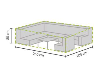 Schutzhülle Abdeckung für Garten Lounge Set, 260x200cm, witterungsbeständig
