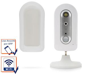 Drahtlose, batteriebetriebene IP-Überwachungskamera, Schutzklasse IP44