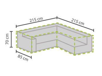 Wetterfeste Schutzhülle Abdeckung für L-förmiges Garten Lounge Set, 215x215x85cm