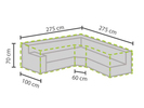 Wetterfeste Schutzhülle Abdeckung Trapez für Garten Lounge Set, 275x275x100cm
