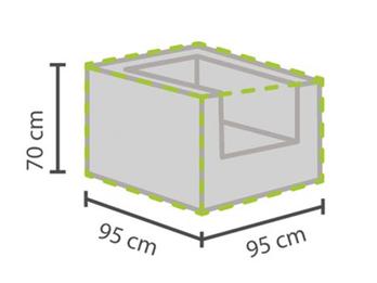 Wetterfeste Gartenmöbel Schutzhülle Abdeckhaube für Hocker, 95x95x70cm