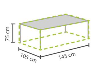 Gartenmöbel Schutzhülle / Abdeckung für Gartentisch max. 140cm, wetterfest