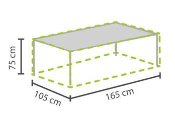 Gartenmöbel Schutzhülle / Abdeckung für Gartentisch max. 160cm, wetterfest