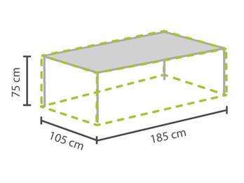 Gartenmöbel Schutzhülle / Abdeckung für Gartentisch max. 180cm, wetterfest