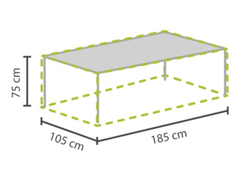 Wetterfeste Gartenmöbel Schutzhülle Abdeckung für Gartentisch max. 180cm