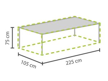 Gartenmöbel Schutzhülle / Abdeckung für Gartentisch max. 220cm, wetterfest