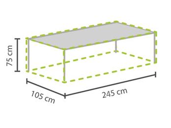 Gartenmöbel Schutzhülle / Abdeckung für Gartentisch max. 240cm, wetterfest