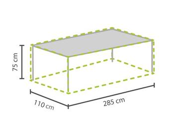 Gartenmöbel Schutzhülle / Abdeckung für Gartentisch max. 280cm, wetterfest