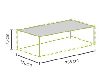 Gartenmöbel Schutzhülle / Abdeckung für Gartentisch max. 300cm, wetterfest