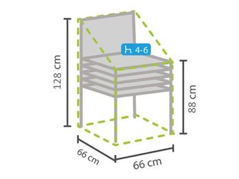 Gartenmöbel Schutzhülle Abdeckhaube für 4-6 Stapelstühle, 66x66x128cm