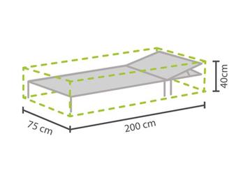 Gartenmöbel Schutzhülle für Sonnenliege 200x75cm, Abdeckhaube Gartenliege