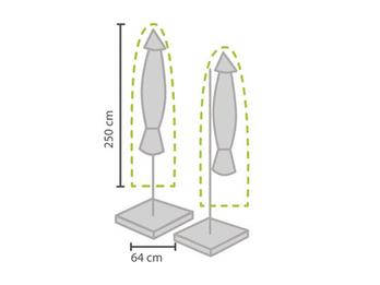 Schutzhülle für Sonnenschirm bis Ø 450cm - Abdeckung 250x64cm