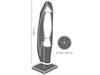 Schutzhülle für Ampelschirm bis Ø 350cm - Abdeckung 260x60/86cm