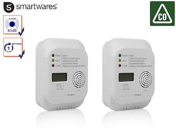 Doppel-Pack Kohlenmonoxid Melder mit 7-Jahres Sensor, CO Warner Gasmelder