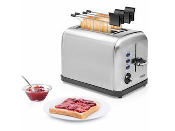 2 Scheiben Toaster mit Brötchenaufsatz Sandwichtoaster