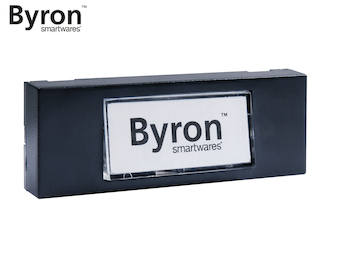 2 Draht Klingeltaster schwarz mit beschreibbarem Namensschild