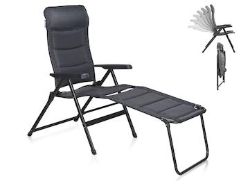 Campingstuhl / Liegestuhl Napoli XL mit Fußablage, in 7 Positionen verstellbar