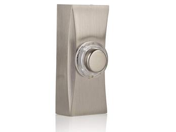Universal Klingeltaster Nickel gebürstet, Klingelknopf beleuchtet