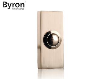 Eleganter Klingelknopf im Design Nickel gebürstet, Klingeltaster 2Draht
