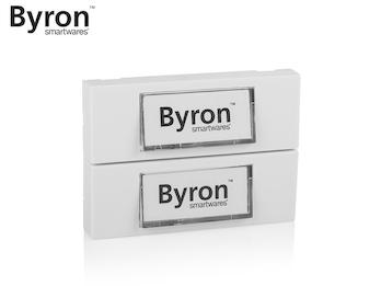 2 Parteien Klingeltaster weiß mit beschreibbaren Namensschildern